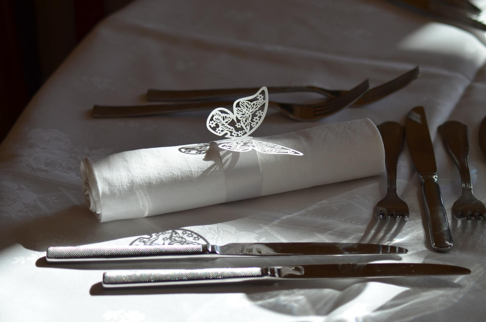 fourchette à droite