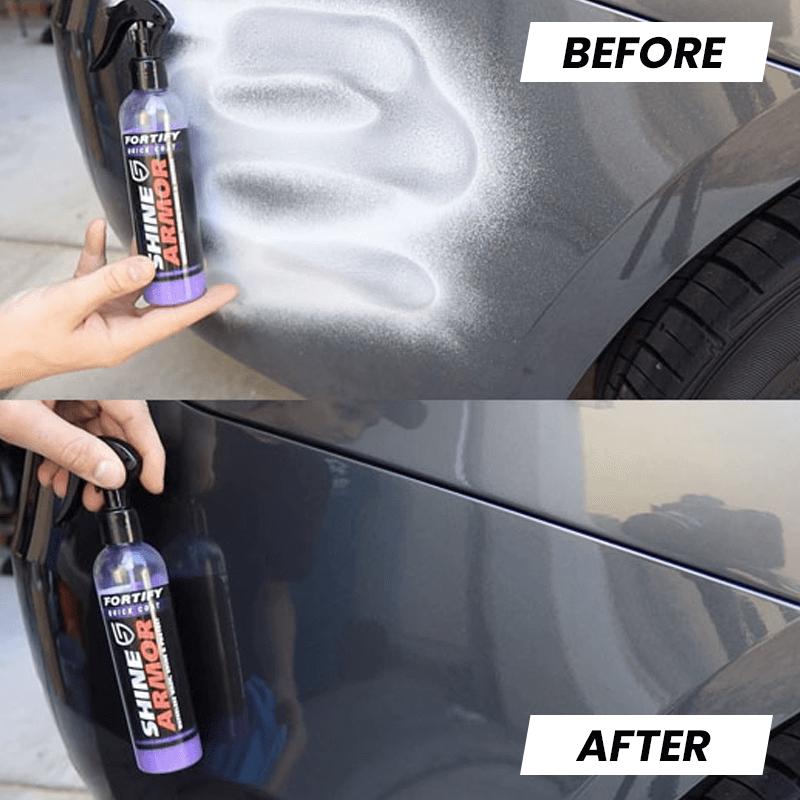 utilisation shine armor pour nettoyer la voiture