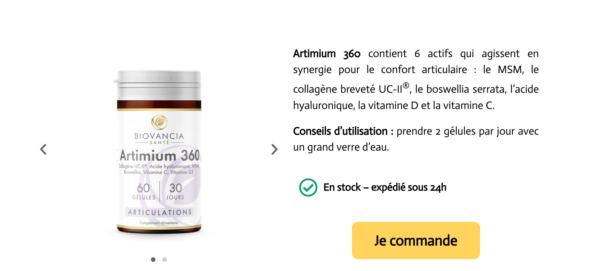 artimium 36O en Pharmacie